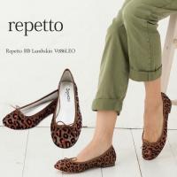 レペット 靴 Repetto ラムスキン レオパード バレエシューズ BB Lambskin [ V...