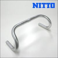 nitto 日東 B105 シルバー(アルマイト)/クランプ径:25.4mm/ハンドル幅(芯-芯):...
