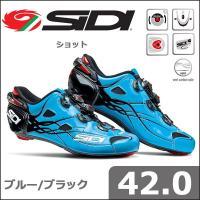 SIDI ショット ブルー/ブラック 42.0 自転車 シューズ  新たなクロージャーシステム「ダブ...
