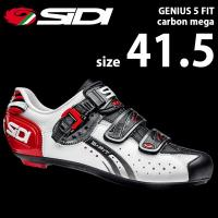 SIDI ジェニウス5フィットC メガ WH/BK/RD 41.5  自転車 シューズ ビンディング...