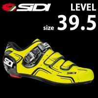 SIDI レベル YEL/BLK 39.5  自転車 シューズ ビンディング  bebike