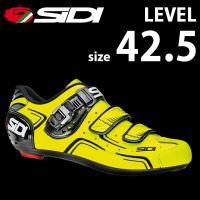 SIDI レベル YEL/BLK 42.5  自転車 シューズ ビンディング  bebike