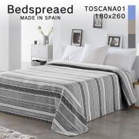 ベッドスプレッド ベッドカバー180×260 スペイン製 TOSCAN1 toscana1