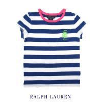 サマーカラーが可愛らしいボーダーマリンT!襟のピンクカラーとワンポイントがとっても女の子らしい一着で...