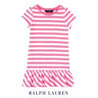 ポロ ラルフローレン 子供用ショート丈ワンピース♪夏の眩しい太陽にぴったり、元気いっぱいのピンク&ホ...