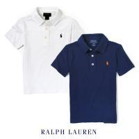 POLO RALPH LAUREN キッズ LUX ポロシャツ コットンTシャツ生地のポロシャツ。上...