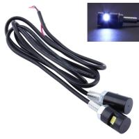LED ナンバーボルト ブラック 2個セット 12V用 ナンバー灯 ナンバーランプ ライセンスランプ バイク SMD