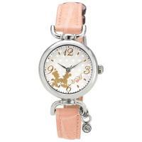 フェミニンディティール満載!  アンティーク風な文字盤にミッキーやミニーのモチーフが可愛らしい腕時計...