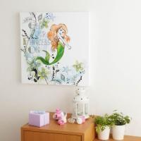 ディズニーのアート作品をお部屋のインテリアに♪  白いキャンバスにディズニーの人気キャラクターを描い...