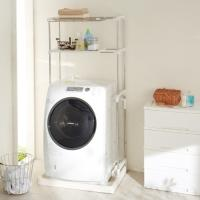 """送料無料 防水パンの""""上""""に載せられる!  洗濯機上部の空間を有効活用して、洗剤のストックやタオル類..."""