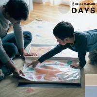 子どもの作品を折らずにファイリング。  幼稚園や学校で使われる大きな四ツ切りサイズの画用紙が、折らず...