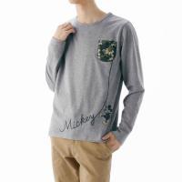MEN'Sも選べる、コレクション柄  春、秋、冬の3シーズン大活躍の長袖Tシャツ。肌ざわりのいい綿1...
