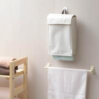 毎日使うタオルをすっきり整理&使い勝手アップ!  たたんだタオルを上から入れて、下からサッと取り出せ...