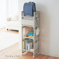 軽くて組み替えが簡単!便利なトレイ付き  収納するものやお子さまの身長に合わせて棚や引出し位置が組み...
