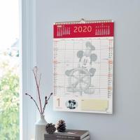 カレンダー 2020年 ディズニー かわいい おしゃれ ミッキー プリンセス 壁掛けファミリーカレンダー