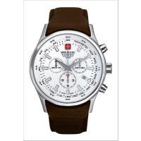 スイスミリタリー●クロノグラフ腕時計 ナバロス  直径44mmの迫力の文字盤。スポーティーさ満点のク...