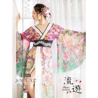 ◆Information◆ ☆着るだけで華やかladyスタイルが完成する振袖ドレスは珍しい紫から緑の...