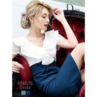 ◆Information◆ ☆大人の上品さを演出してくれる膝丈ドレスは裾のドレープと深めスリットでs...