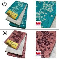 浴衣帯 京都 西陣 日本製 しじら織 小袋タイプ 桜柄 全5色