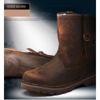 メンズブーツ  素材:牛革   特徴 防寒 耐磨 防風 。 シンプルなデザインで、本革でしか味わえな...
