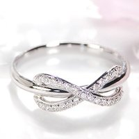 pt900 プラチナ ダイヤモンド ダイヤ 指輪 リング エンドレス インフィニティ 無限大 永遠 BRR-0059P