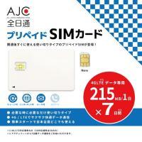 こちらのSIMカードでご利用いただける容量は1日に215MBまでです。1日の内に215MB使い切って...