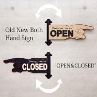 """ユニークな指差しデザインの""""OPEN&CLOSED""""のハンドサイン プラッケです。 ページをめくるよ..."""