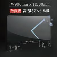 [あすつく][日本製] 飛沫防止 アクリルパーテーション 窓付き W900*H500mm アクリルキャスト板  コロナウイルス対策  tap-r9050-m42