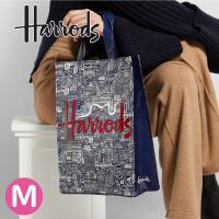 送料無料/HARRODS ハロッズ 正規品 トートバッグ  バック  Mサイズ l Medium ショッピングバッグ Harrods Bold London Shopper Bag