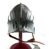 中世 18ゲージスチール ゴシックサレット ダークメタル仕上げ