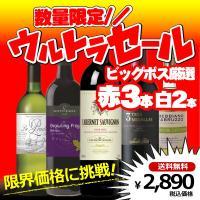 赤3本白2本の組合せで楽しめる超お値打ちビッグボス厳選破格のワイン5本セットです。  【商品内容】 ...