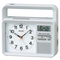 SEIKO セイコー クロック 防災クロック ラジオ ブザー 携帯充電 手回しハンドル LEDライト クオーツ置き時計 KR885N