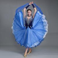 社交ダンス衣装 社交ダンスドレス モダンドレス ダンスウエア 競技 デモ ダンス 衣装 ガールズ  社交ダンス競技用のドレス ワンピース