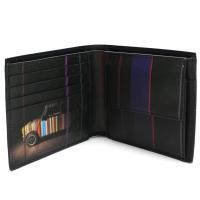 ポール・スミスの二つ折り財布です    素材:カーフ  カラー:B ブラック   サイズ:約 W11...