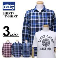 人気ブランドCOSBY(コスビー)より、長袖チェックシャツ+半袖Tシャツが入荷しました! 綾織チェッ...