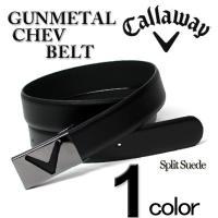 大人気ブランド「Callaway」よりUSA直輸入のゴルフ レザーベルト(Gunmetal Chev...