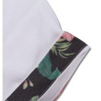 鹿の子ボタニカル切替半袖ポロシャツ 大きいサイズ メンズ SHELTY  オフホワイト 新着商品