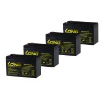 LONG シールド バッテリー WP1236W  UPS(無停電電源装置)用 12V9Ah 4個セット 90日保証付 新品 Smart-UPS バイクパーツセンター