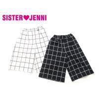 ブランド:JENNI(ジェニィ)  商品名:ポンチガウチョパンツ  カラー:オフ(11)/クロ(30...