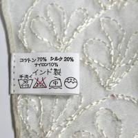 コットンシルク エアリー ストール 刺繍 ボーダー/