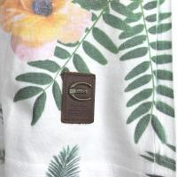 Tシャツ メンズ  花柄  ボタニカル 白 M/L