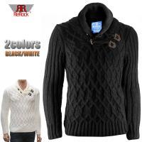 ドイツブランド【REROCK】  凹凸感たっぷりのケーブル編みセーターです。後ろ身頃はリブ編みなので...