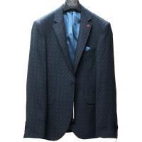 テーラードジャケット ブレザー  メンズ 紺 ネイビー ジャケパン 一つボタン 細身 タイト シルエット