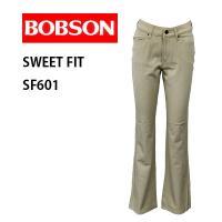 ボブソン レディース ブーツカット ストレッチパンツ  BOBSON SF601 スラックス  『カ...