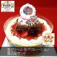 苺2段サンド/キラキラ☆プリキュアアラモード5号/キャラデコケーキ バースデーケーキ
