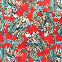 ポイント10倍 028赤 龍総柄アロハシャツ 半袖シャツ和柄 大きいサイズ夏物 服 イベント悪羅悪羅系 オラオラ系 ヤクザ 派手 不良 祭り花火お盆