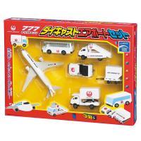 JAL飛行機(トリプルセブン) ランプバス コンテナトレーラー ハイリフトトラック トーイングタグ ...