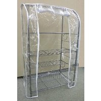 温室としてだけでなく、フラワーラックにもできる温室兼用のフラワーラックです。  組み立ても簡単で、ビ...