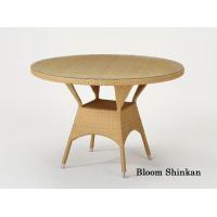 天板に強化ガラス使用♪清々しい雰囲気のテーブルです!■サイズ:径 110 高さ 75 cm■その他:...