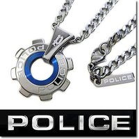 【20%OFF:送料無料】POLICE ポリス ネックレス REACTOR ギアモチーフペンダント ...
